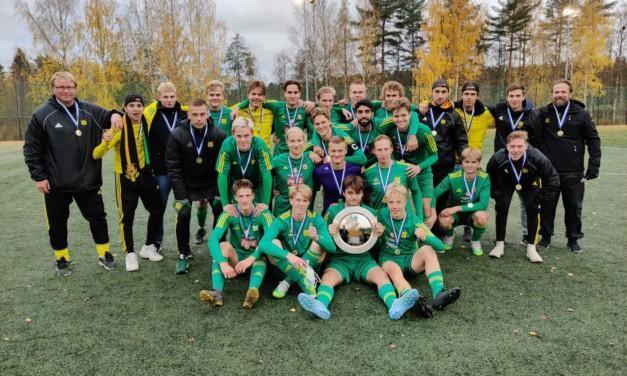 TUES palkitsi A-nuorten Suomen mestaruuden positiivisena suorituksena ja urheilutekona!